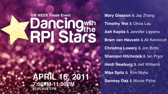 Dancing with the RPI Stars and GM Week Elections Results