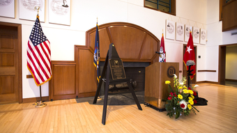 Memorial Plaque Dedication for Major General Harold J. Greene '80