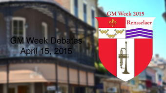 2015 GM Week Debates